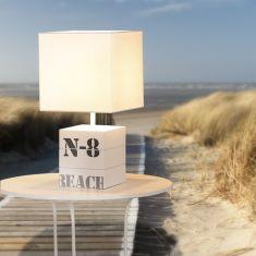 Tischleuchte Frank Beach Look in Weiß