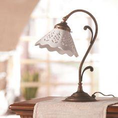 Tischleuchte im Landhausstil - Keramik
