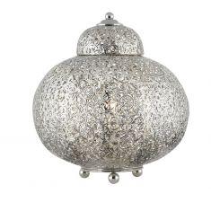 Tischleuchte Maroccan Fretwork - bauchige Form