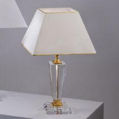 Tischleuchte mit Kristallglas, vergoldet, 2 Größen