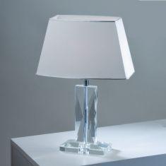 Tischleuchte 46 cm mit optischem Kristallglas