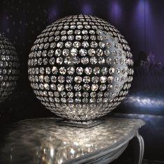 Tischleuchte mit Schöler Crystal, Ø 50 cm