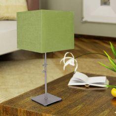 Tischleuchte mit Stoffschirm in Grün