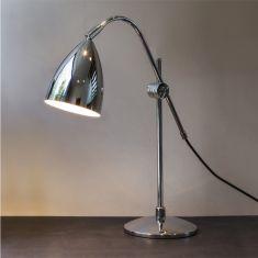 Tischleuchte im modernen Design, Chrom chrom