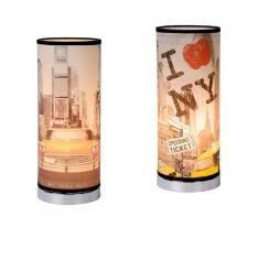 Tischleuchte N.Y. von Lucide Metall, Kunststoff, zwei Motive