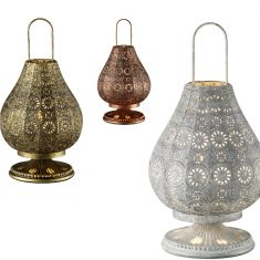 Tischleuchte im orientalischen Stil aus Metall - Ø 19cm