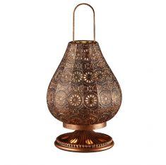 Tischleuchte im orientalischen Stil in Kupfer antik - Ø 19cm 1x 40 Watt, kupfer, antik