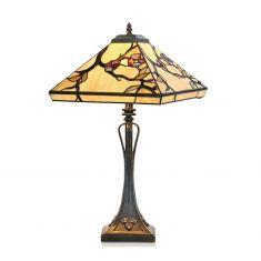 Tischleuchte im Tiffany-Stil, handgefertigte und dekorative Leuchte, Höhe 61cm