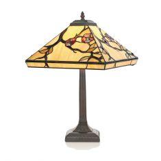 Tischleuchte im Tiffany-Stil, handgefertigte und dekorative Leuchte, Höhe 51cm