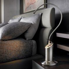 Tischleuchte Zed von Lumina - in Nickel oder Schwarz
