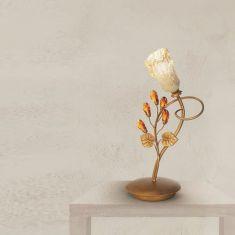 Tischleuchte - 1-flammig - Gold - Vergoldetet Gläser - Kristalle amberfarbig