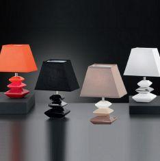 Tischleuchte, Höhe 28cm, Keramik in Stein-Optik, drei Farbkombinationen wählbar