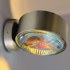 Top Light LED Puk Wall, 2 x 8 Watt, Nickel-matt nickel, Nickel-matt