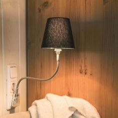 Top Light Steckerleuchte Pluglight Flex Nickel, Schirm Schwarz
