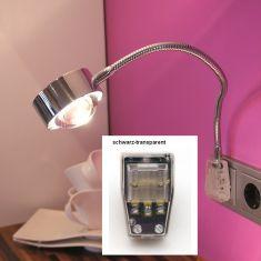 Top Light Steckerleuchte Puk Flexlight, Steckervariante schwarz-transparent