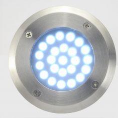 Trittfester LED Bodeneinbaustrahler matt Glas milchig