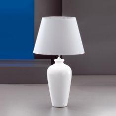 Vasenleuchte, Höhe 57cm, Keramik weiß