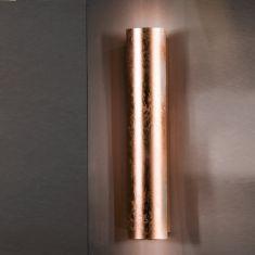 verkupferte Wandleuchte schlagmetallveredelt in 18cm Höhe 2x 40 Watt, 18,00 cm