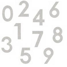 von 0-9 Edelstahl Hausnummer zum Kleben, Höhe 12cm