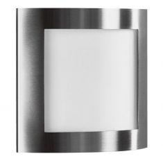 Wand /Deckenleuchte aus Edelstahl mit Opalglas