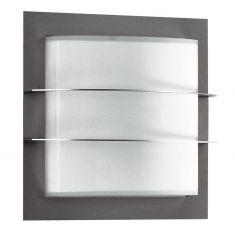 Wand / Deckenleuchte aus Edelstahl mit Opalglas