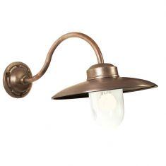 Wandlampe aus Bronze und Kupfer