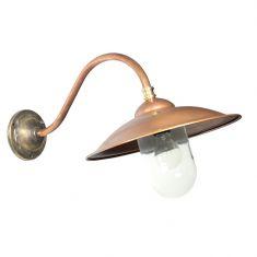 wandlampe aus bronze und kupfer schr g oder gerade wohnlicht. Black Bedroom Furniture Sets. Home Design Ideas