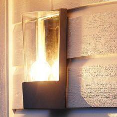 Wandleuchte in anthrazit  Energiesparlampen geeignet