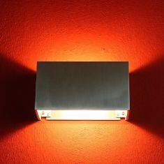 Wandleuchte aus Aluminium, inklusive Leuchtmittel