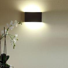 Wandleuchte in Edelstahl, Energiesparend und flach, inklusive Leuchtmittel