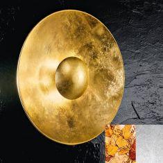 glamouröse Wand- und Deckenleuchte in Gold mit Ø 60cm 4x 40 Watt, gold, Blattgold, 60,00 cm
