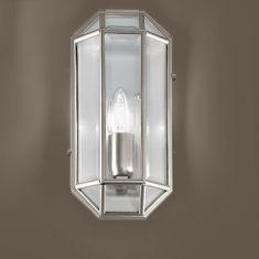 Wandleuchte Höhe 29cm in vier edlen Oberflächen und zwei Glasarten