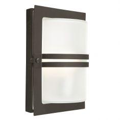 Wandleuchte mit gefrostetem Glas - schwarz - 21cm x 31cm