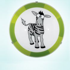 Wandleuchte mit Tiermotiv Zebra Zebra