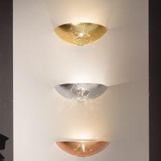 Wandleuchte Royal aus Glas, 3 Farben