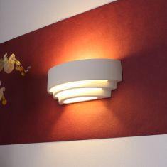 Wandleuchte Trisol weiß Keramik ink. 6 W LED