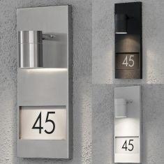 Wandstrahler mit Hausnummern zum Bekleben, 3 Farben