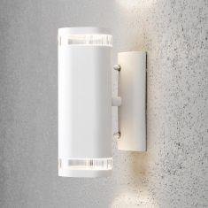 Wandstrahler in Weiß, Beleuchtung für den Außenbereich als up and down 2x 35 Watt, weiß