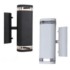 Wandstrahler - Beleuchtung für den Außenbereich als up and down - Weiß oder Schwarz - inklusive LED-Leuchtmittel