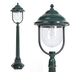 Wegeleuchte in Grün - klassische Form 1x 60 Watt, grün, 112,00 cm, 15,60 cm, 24,80 cm, 24,80 cm