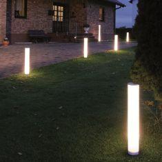Wegeleuchte Lightstick aus weißem Kunststoff Ø 10cm Höhe 65-, 95- oder 125cm