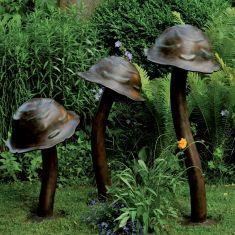 Wegeleuchte von Robers handgefertigt, Beetleuchte Pilzform