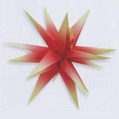 Weihnachtsbeleuchtung - Annaberger Faltstern - rot
