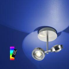 ZigBee LED Deckenleuchte Easy Light Nickel Chrom, RGB-Farbwechsel