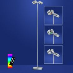ZigBee LED Stehleuchte Easy Light Nickel Chrom, RGB-Farbwechsel