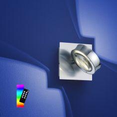 ZigBee LED Wandleuchte Easy Light Nickel Chrom, RGB-Farbwechsel