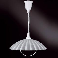 Zugpendel mit Spiralkabel, ideale Beleuchtung über dem Esstisch, Glas mit Dekor wählbar