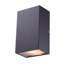 Up & Down LED-Außenwandleuchte Alu dunkelgrau, Glas klar, IP44, inkl. 2 x 5W LED, 360lm, 3000K
