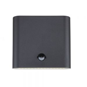 Up & Down LED-Außenwandleuchte mit Sensor, Alu grau