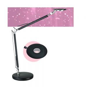 6W  LED Schreibtischleuchte in Schwarz mit Doppelarm,